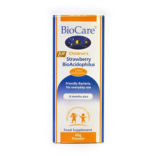 biocare childrens strawberry bio acidophilus