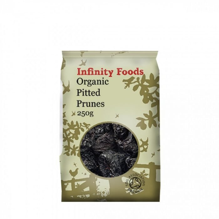 organic pitted prunes 250 grams