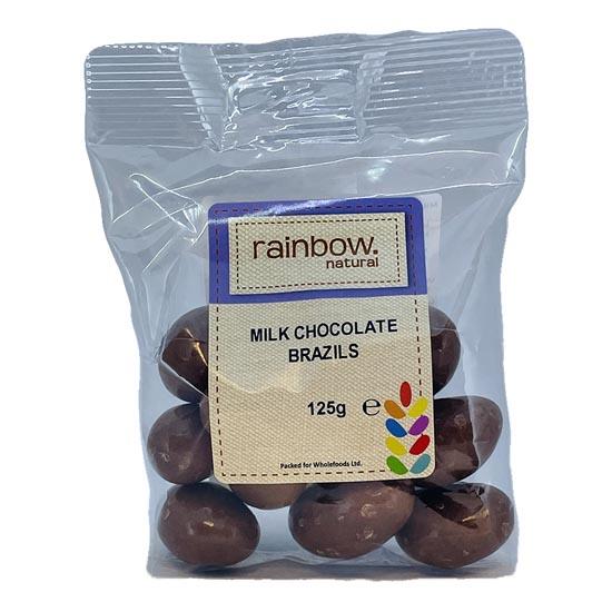 rainbow milk chockolate brazils 125 grams