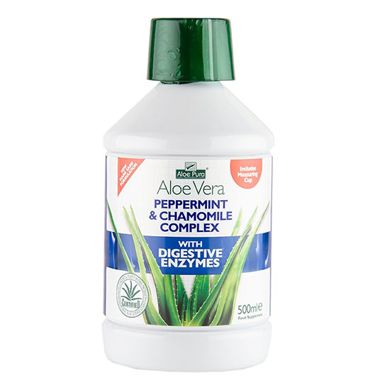 aloe pura peppermint and chamomile complex 500ml