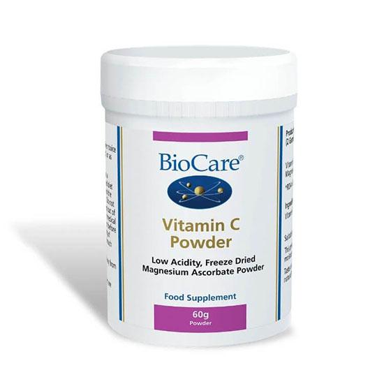 biocare vitamin c powder 60 grams