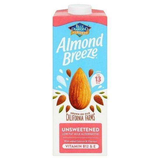 Blue Diamond Almond Breeze Unsweetened 1 litre
