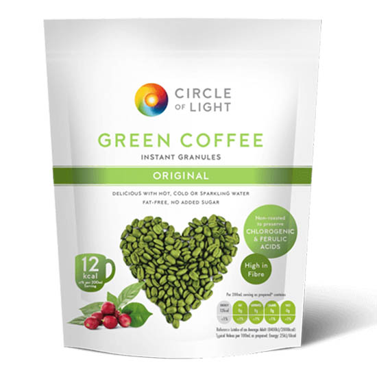 circle of light Green Coffee Pouch Original