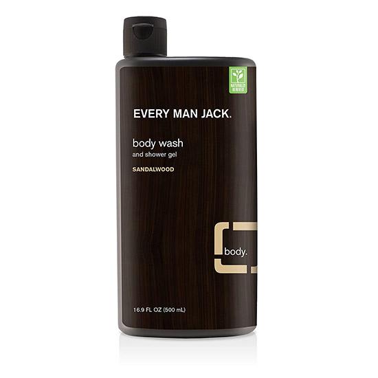 everyman jack body wash and show gel sandlewood 500ml