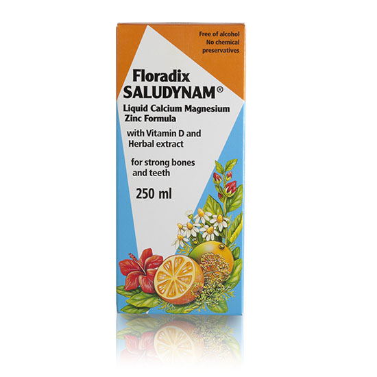 floradix saludynam liquid calcium magnesium zinc 250ml