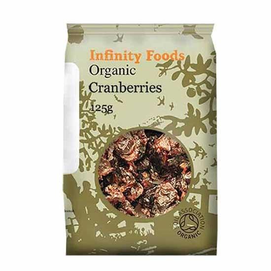 infinity organic cranberries 125g