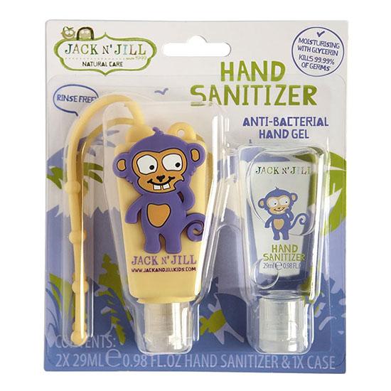 jack n jill kids hand sanitiser monkey