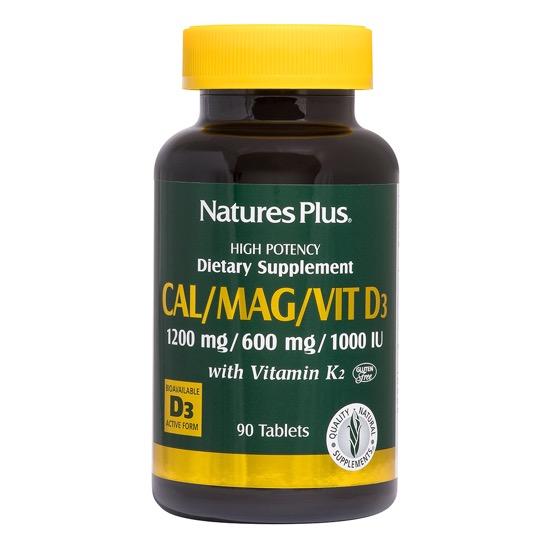 natures plus calcium vitamin d3 k2 90 tablets