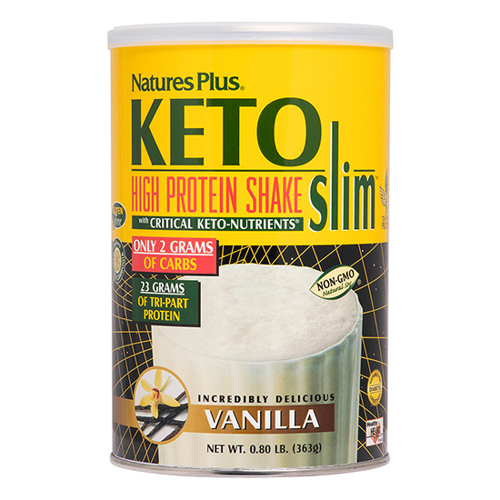 natures plus keto high protein shake vanilla