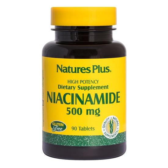 natures plus niacinamide 500mg 90 tablets