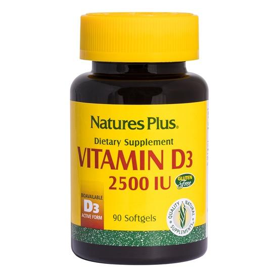 natures plus vitamin d3 2500 90 soft jels