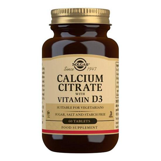 solgar calcium citrate d3 60 tablets