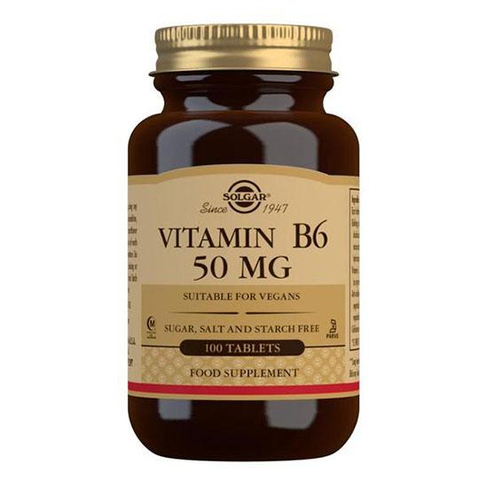 solgar vitamin b6 50 mg 100 tablets