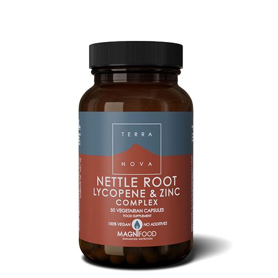 terranova nettle lycopene and zinc 50 capsules