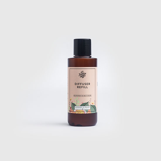 the handmade soap company reed diffuser refill grapefruit and may chang 150ml