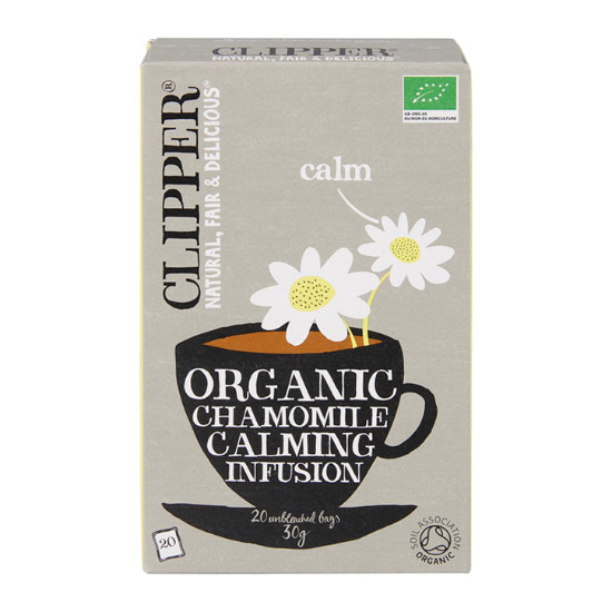 clipper organic chamomile calming infusion tea 20 bags