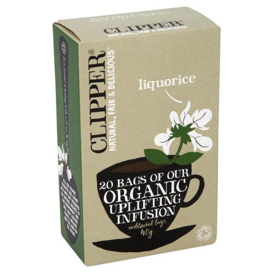 clipper organic liquorice tea 20 bags