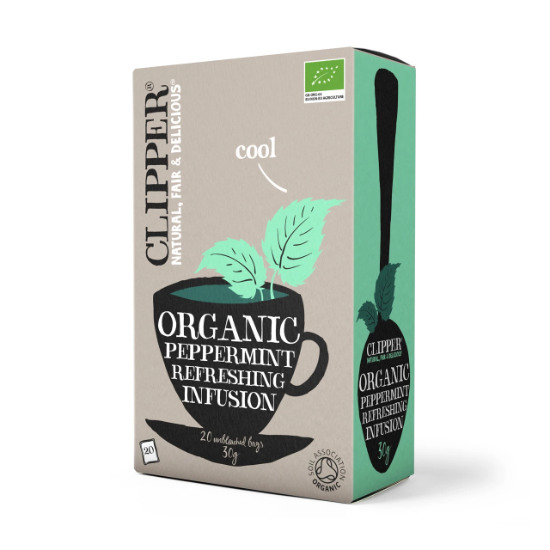 clipper organic peppermint refreshing infusion tea 20 bags