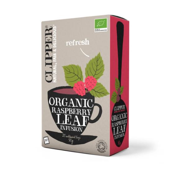 clipper organic raspberry leaf infusion tea 20 bags 1