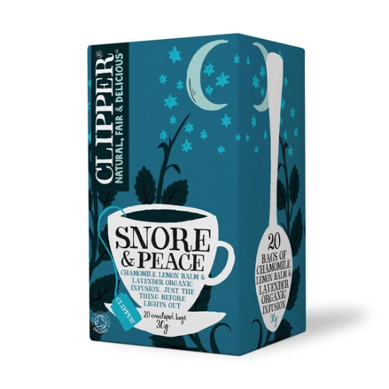 clipper organic snore and peace tea 20 bags