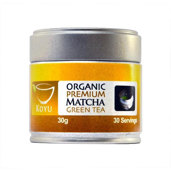 koyu organic premium japanese matcha green tea 30g