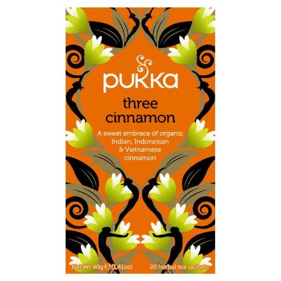 pukka three cinnamon 20 organic caffeine free herbal tea sachets 1