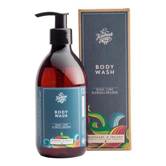 the handmade soap company body wash basil lime and sweet orange