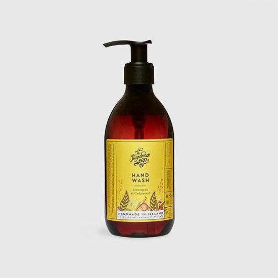 the handmade soap company hand wash lemongrass and cedarwood