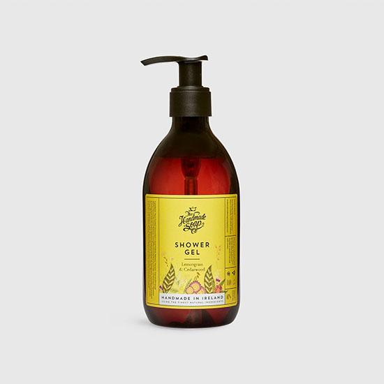 the handmade soap company shower gel lemongrass and cedarwood