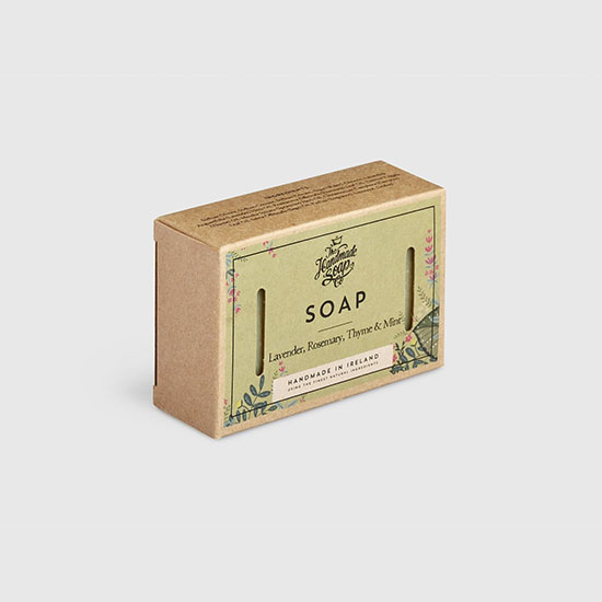 the handmade soap company soap bar lavender rosemery thyme mint