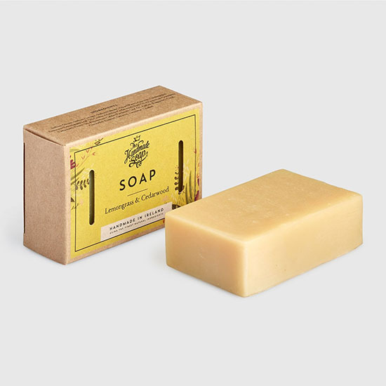 the handmade soap company soap bar lemongrass cedarwood with box