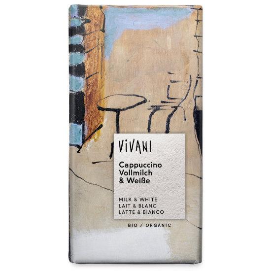 vivani organic milk white cappuccino chocolate