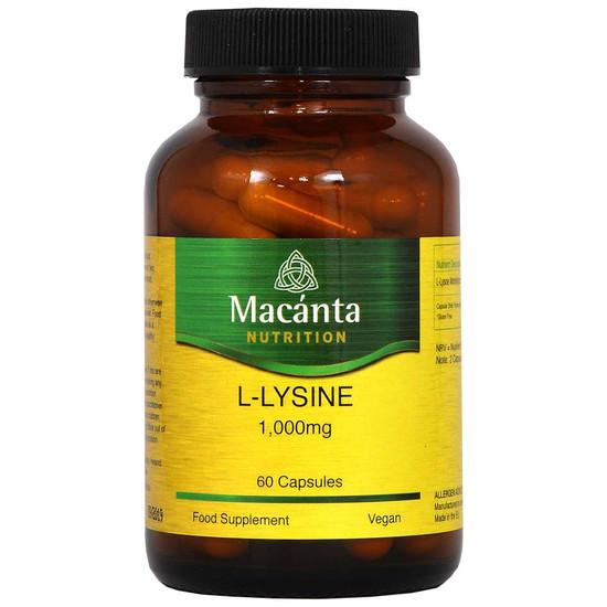 macanta nutrition l lysine 1000mg 60 capsules
