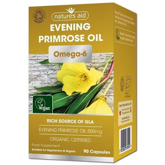 natures aid evening primrose oil organic 90 capsules