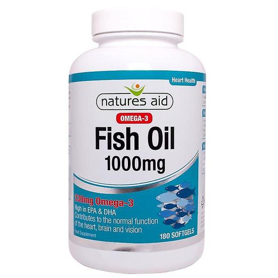natures aid fish oil 1000mg 180 softgels