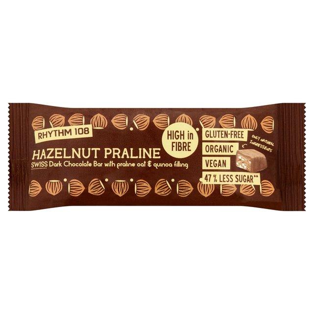 rhythm 108 hazelnut parline bar swiss chcoolate