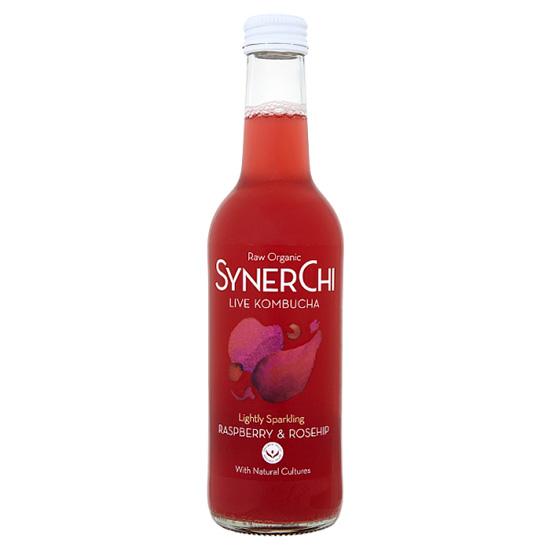 synerchy kombucha raspberry and rosehip 330ml
