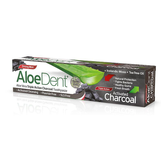 aloe dent triple action charcoal toothpaste