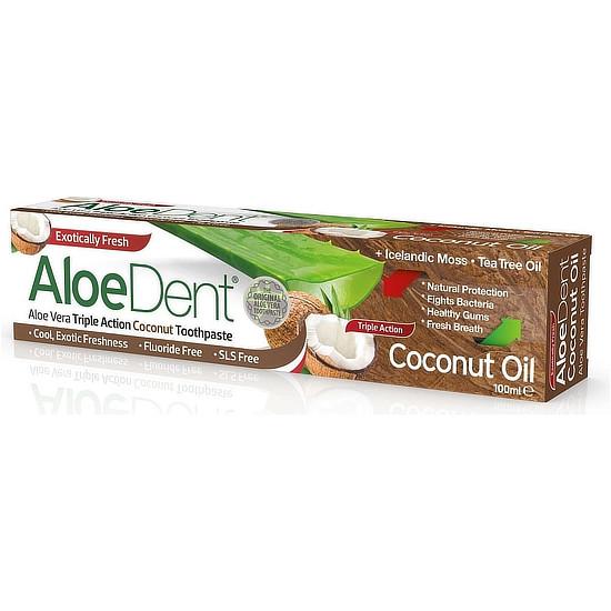 aloedent triple action coconut toothpaste 100 ml