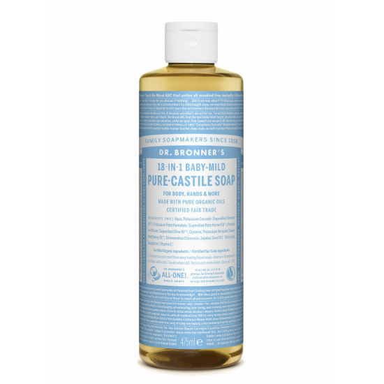 dr bronners pure castile soap baby mild 475ml