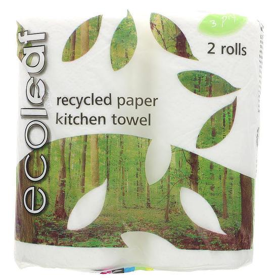 ecoleaf kitchen towel 2 rolls