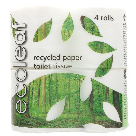 ecoleaf toilet tissue 4 rolls