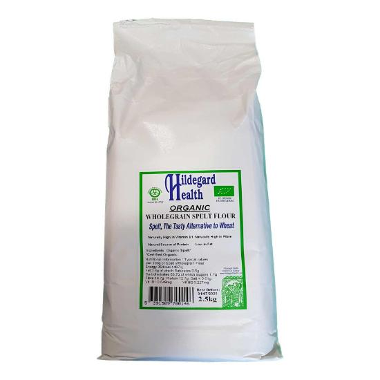hildegard health organic wholegrain spelt flour 2.5kg