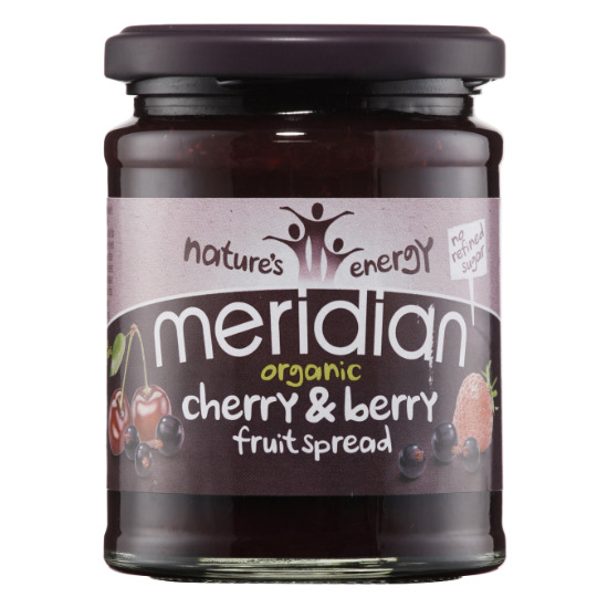 meridian organic cherry and berry fruit spread