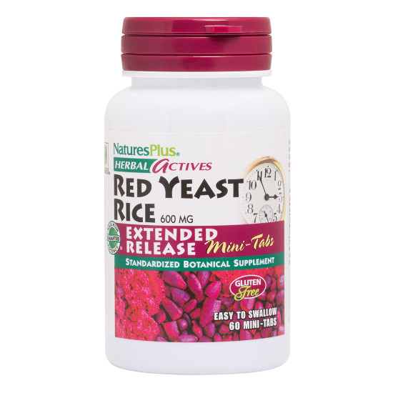 natures plus herbal actives red yeast rice extended release 30 tablets