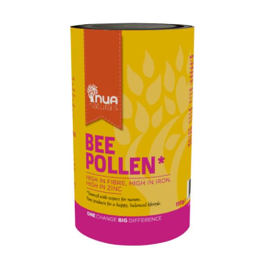nua naturals bee pollen 190g small tub