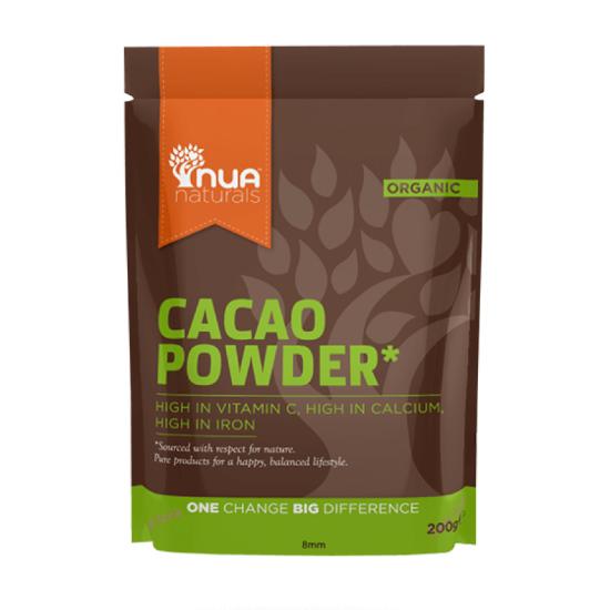 nua naturals cacao powder 200g
