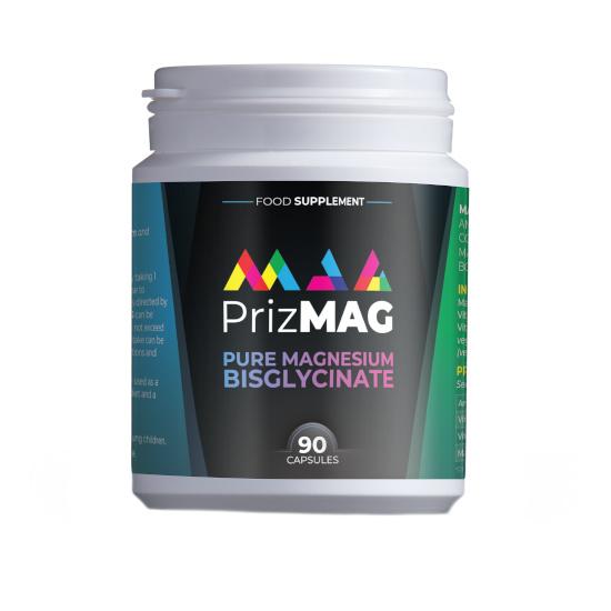 prizmag pure magnesium bisglycinate 90 capsules