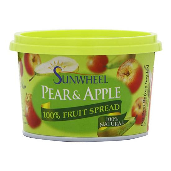 sunwheel pear and apple fruit spread