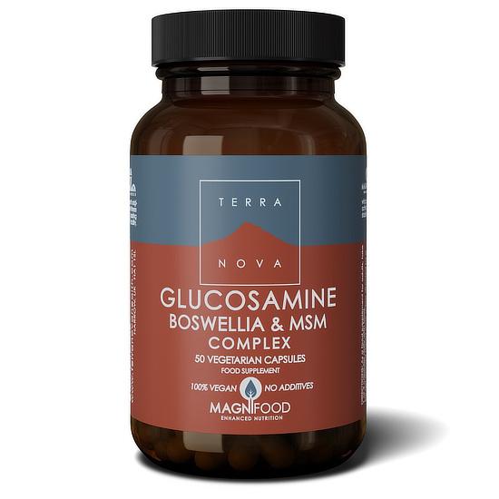 terranova glucosamine boswellia msm capsules 50